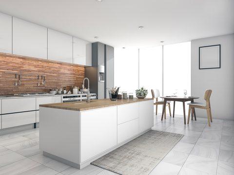 Küchenfliesen: Modern in Großformat und Holzoptik